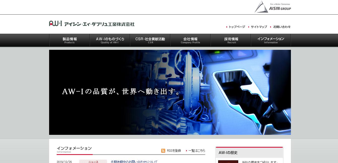 アイシンAW工業の評判・口コミ