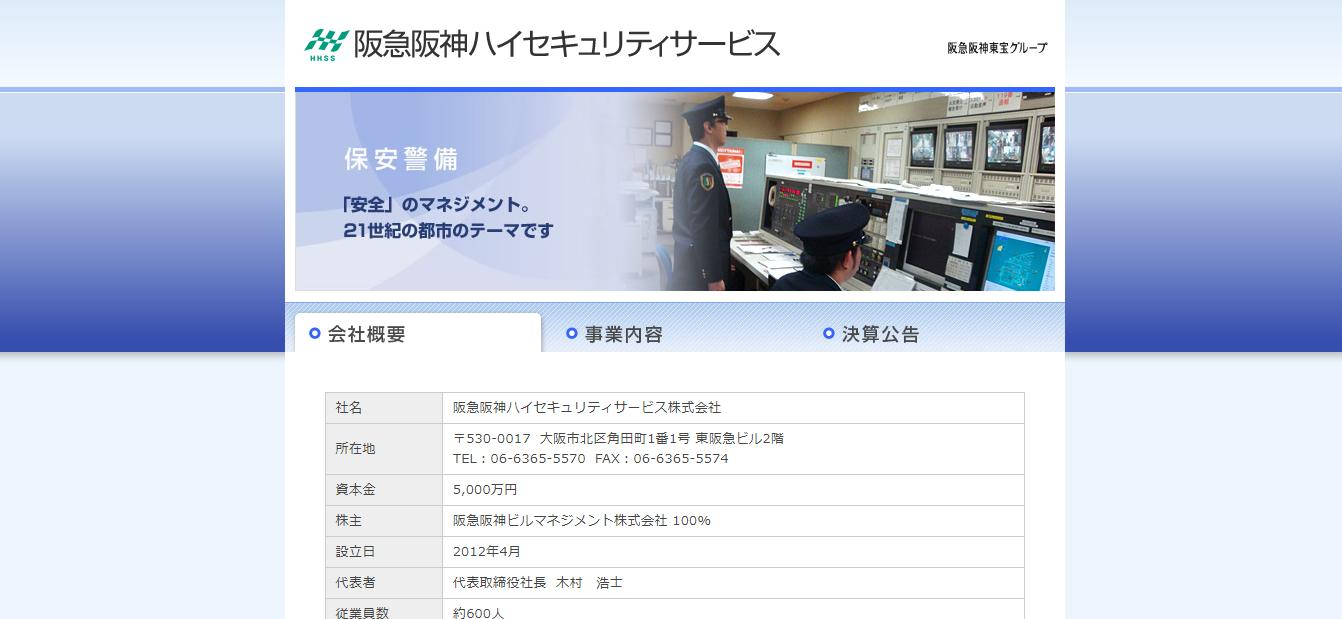 阪急阪神ハイセキュリティサービスの評判・口コミは?